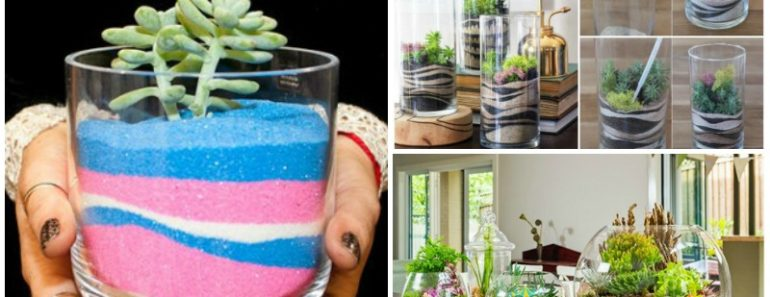 DIY Modern Sand Art Terrarium Tutorial
