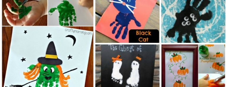 10+ Kids Halloween Handprint and Footprint  Ideas