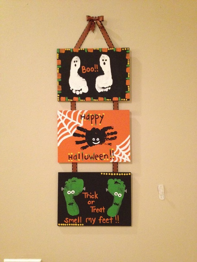 kids-halloween-handprint-and-footprint-ideaswall-art-tutorial-2