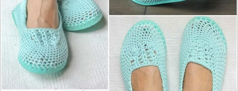 Crochet Slippers FREE Pattern – With Flip Flop Soles