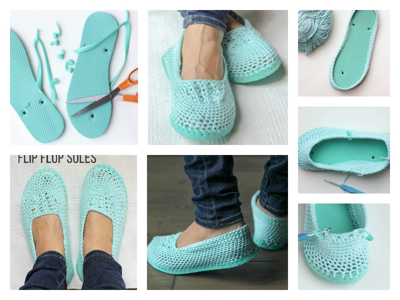 lightweight-crochet slippers-free-pattern-with-flip-flop-soles2