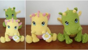 Crochet Baby Dragons FREE pattern