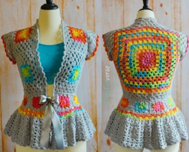 Crochet Garden Party Jacket Free Pattern