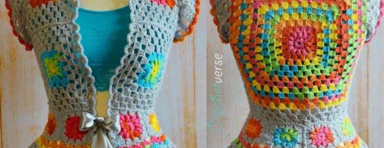 DIY Crochet Garden Party Jacket Free Pattern