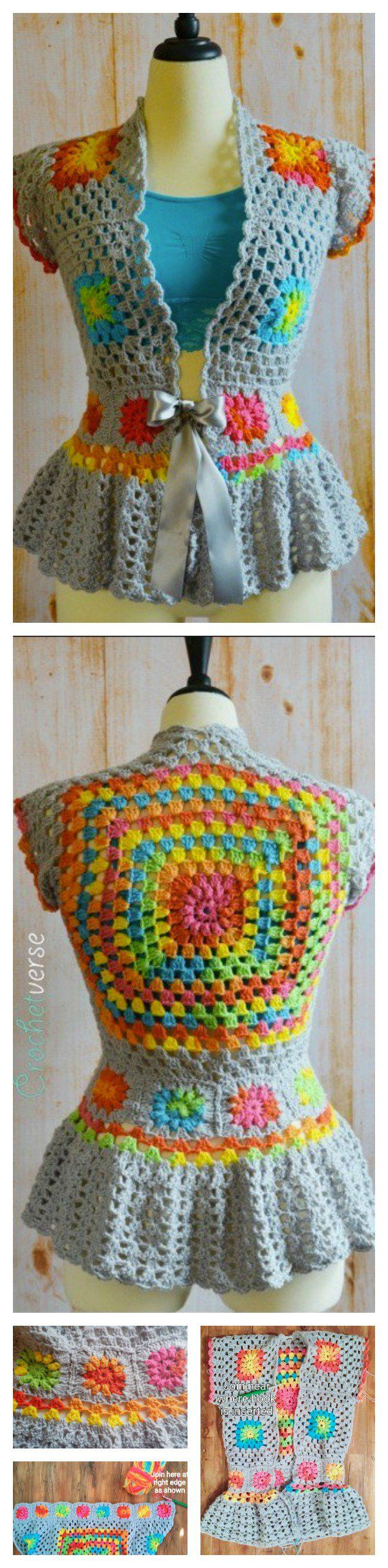 DIY Crochet-Garden Party Jacket FREE pattern