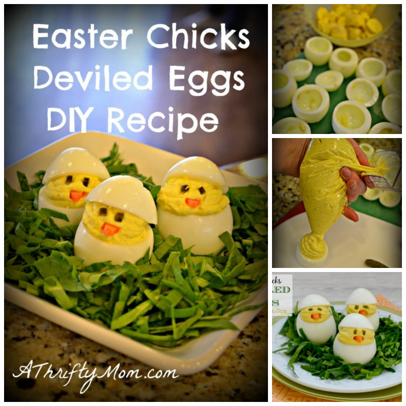 DIY Easter Chicks Deviled Eggs