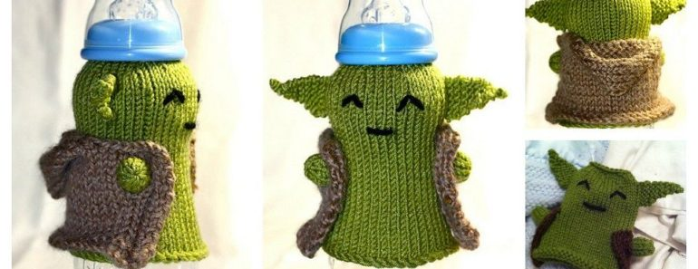 Knitting Yoda Baby Bottle Cozy  FREE Pattern