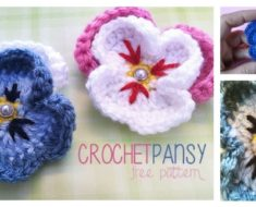 Pansy Flower Crochet Pattern (Free )