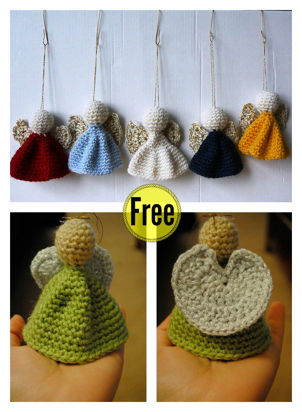 Christmas Crochet Angel Ornament Free Patterns