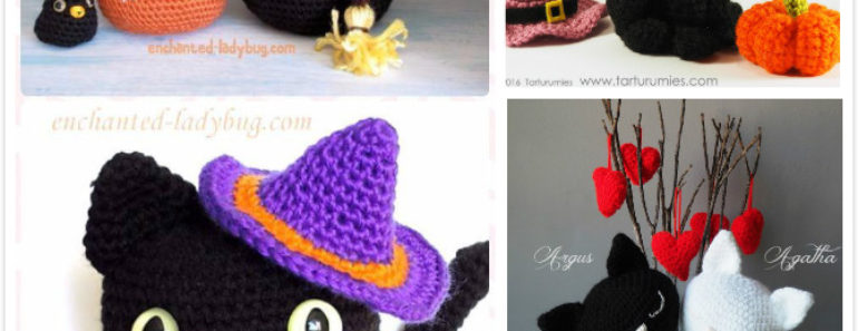 crochet amigurumi halloween black cat patterns  free