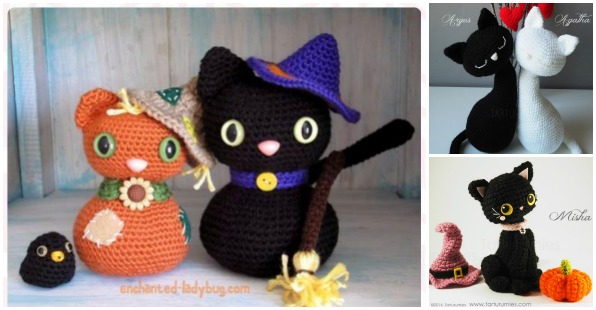 Amigurumi Halloween Free : Crochet amigurumi halloween black cat patterns free beesdiy.com