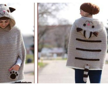 Crochet Kitty Cat Poncho Free Pattern