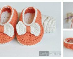 Crochet Orange Pumpkin Baby Booties FREE Pattern
