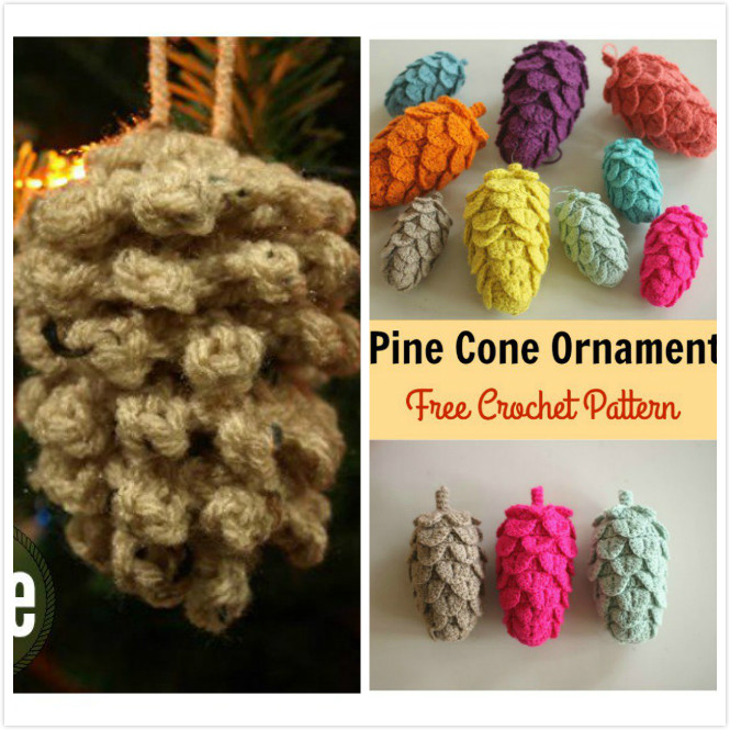 Crochet-Pine-Cone-Ornament-Free-Pattern