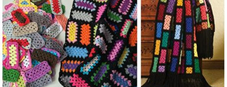 Crochet Rectangle Granny Square ( Free  Pattern)