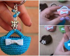 Crochet Tiny Bag Keychain (Video Tutorial)
