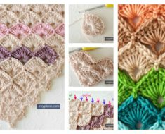 Crochet Triangle Shawl Box Stitch Free Pattern
