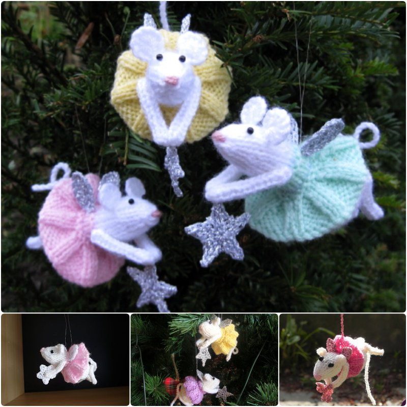 Knitting Furry Fairies Christmas Ornament Pattern (FREE)