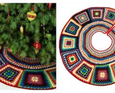 Granny Christmas Tree Skirt Crochet Pattern (FREE)
