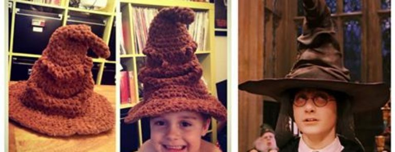 Harry Potter Sorting Hat Crochet Pattern (FREE)