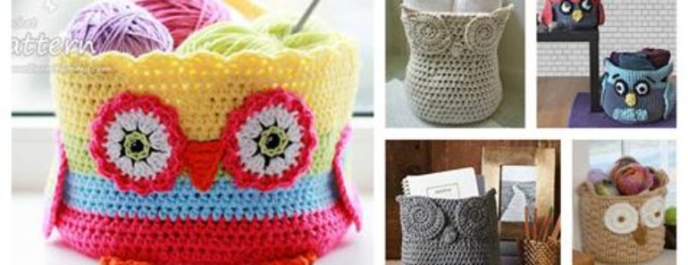 Hoot Owl Container Crochet  Patterns
