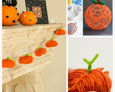 How to DIY Yarn Pumpkins