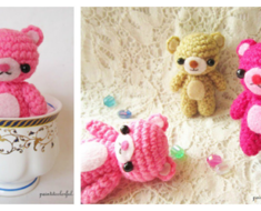 Mini Crochet Teddy Bear Amigurumi Free Pattern