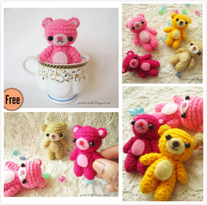 Ravelry: Amigurumi Mini teddy bear pattern by Anitha Domacin | 665x670