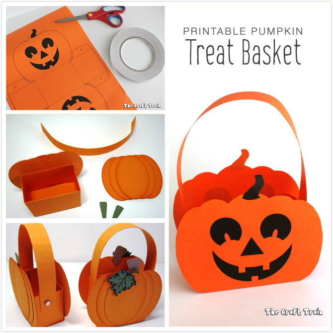 DIY Paper Pumpkin Basket for Halloween