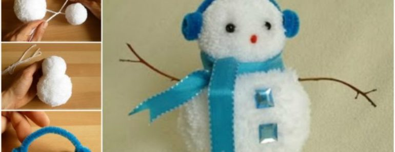 Cute DIY Pom Pom Snowman Tutorial