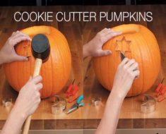 How to Carve Pumpkin With Cookie Cutter
