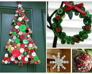 10 Best DIY Christmas Button Craft Ideas