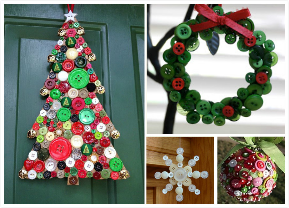 Craft Ideas Christmas Part - 45: 10 Best DIY Christmas Button Craft Ideas