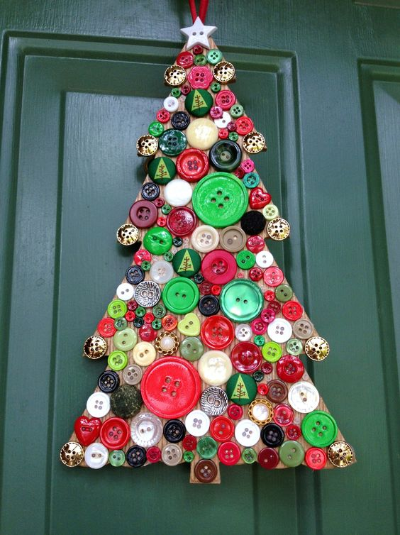 Best-DIY-Christmas-Button-Craft-Ideas
