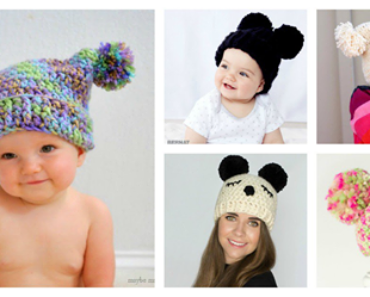 Crochet Pom Pom Hat Free Patterns