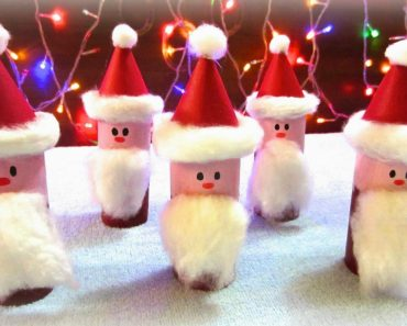 DIY Toilet Paper Roll Santa Claus