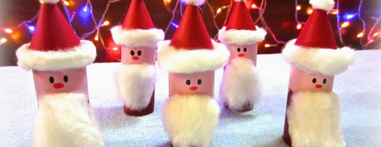 Easy DIY Toilet Paper Roll Santa Claus