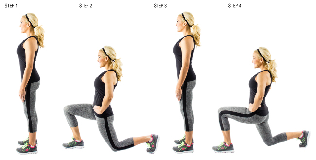 How to Get a Bigger and Rounder Butt- lunge