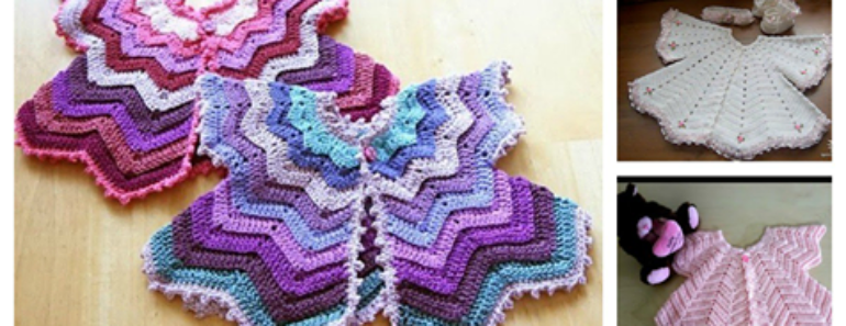 Crochet Baby Chevron Cardigan Tutorial