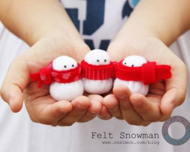 DIY Mini Snowman Christmas Ornament