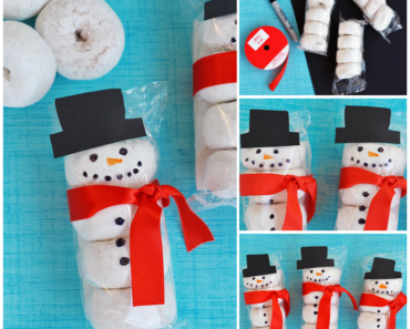 DIY Snowman Donuts Fun Snacks