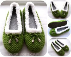 Crochet Cozy House Slippers