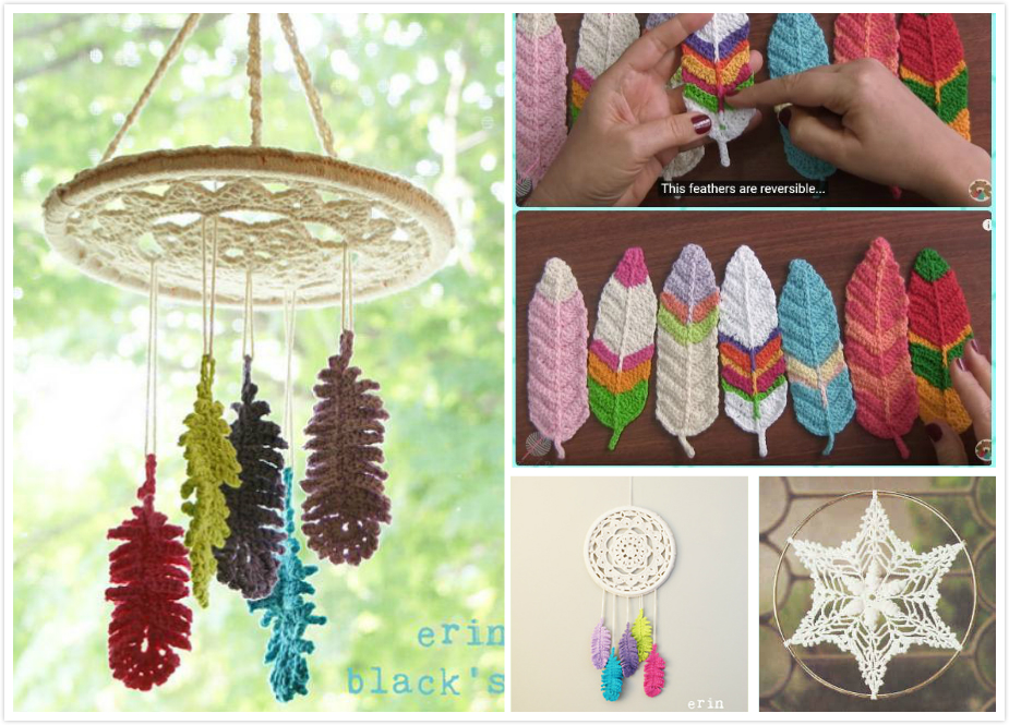 Crochet Dream Catcher Amp Feather Patterns Beesdiy Com