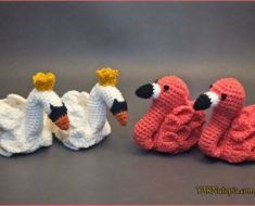 Crochet Flamingo Baby Booties Free Pattern