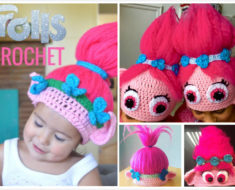 Crochet Poppy Troll Hat Free Pattern