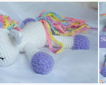 Crochet Sleeping Unicorn Pony Free Pattern