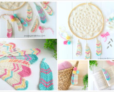 Crochet Tunisian Feathers (Free Pattern)