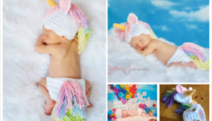 Crochet Unicorn Hat Diaper Set Pattern