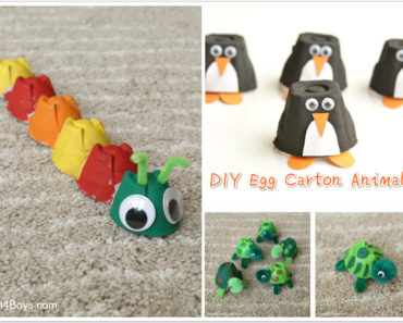 DIY Egg Carton Animals - kids craft