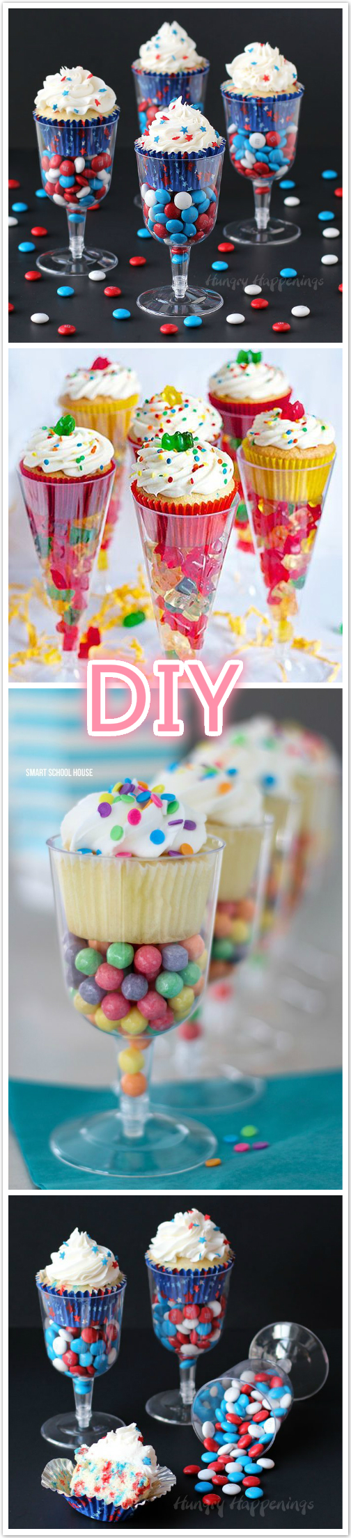 DIY Plastic Champagne Cupcake Stand